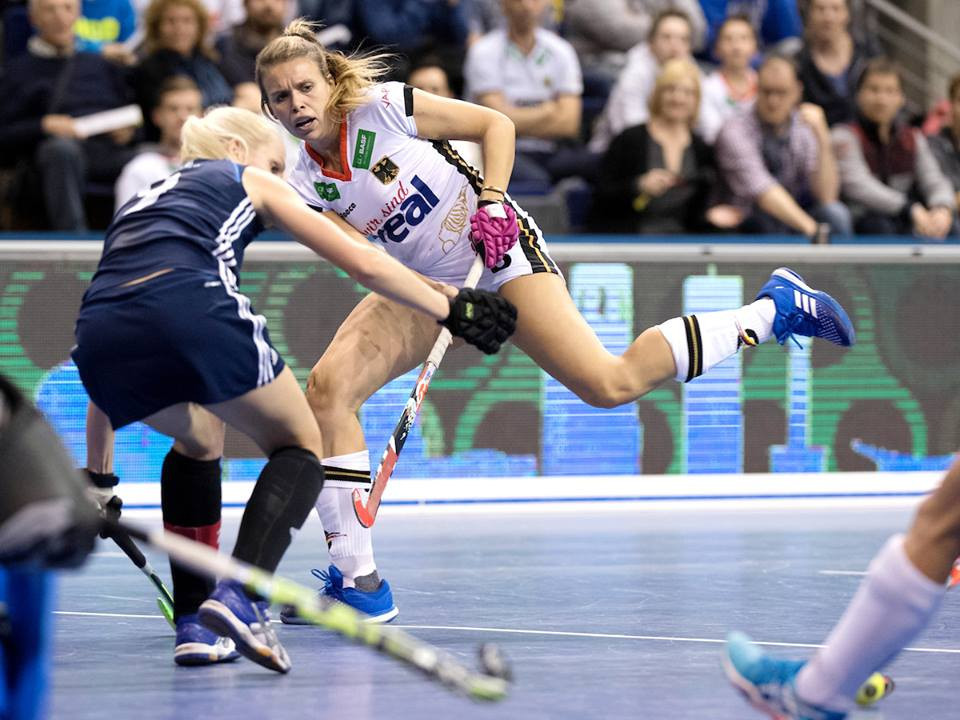 Germany overcame Belarus in the women's semi-final of the Indoor Hockey World Cup in Berlin to set up a meeting with The Netherlands, reaching the final for the fifth consecutive tournament ©FIH
