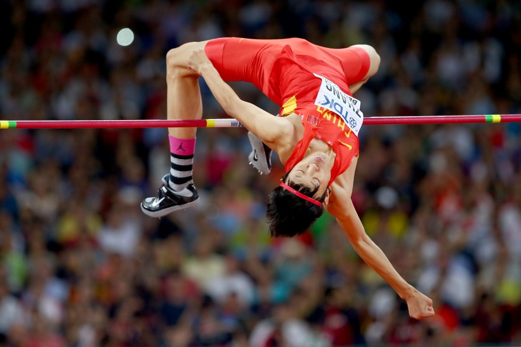 Zhang Guowei electrified the Bird's Nest en route to high jump silver  ©Getty Images
