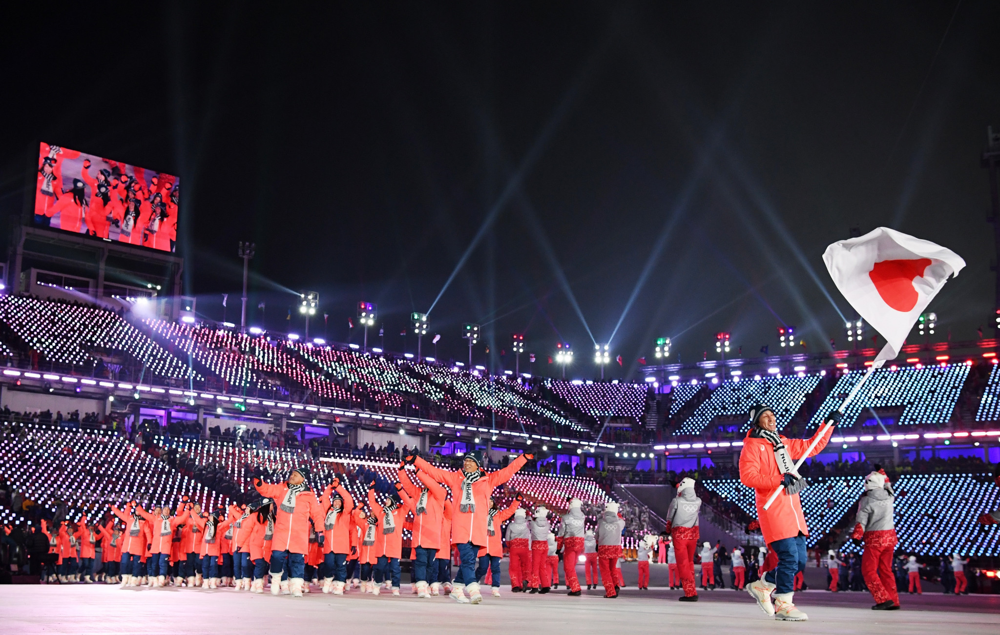 Josh Cooper Ramo made the remarks as Japan was introduced at the Opening Ceremony ©Getty Images