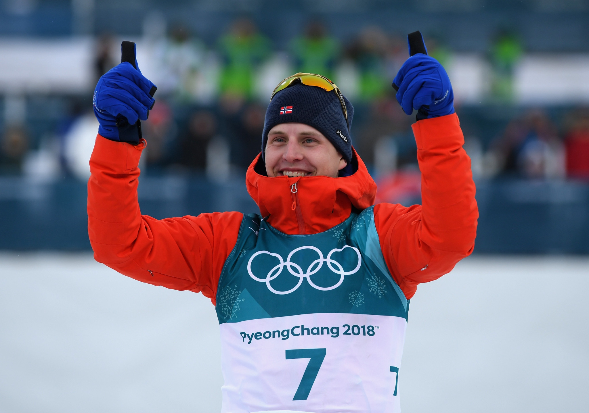 Norway's Krueger wins men's skiathlon