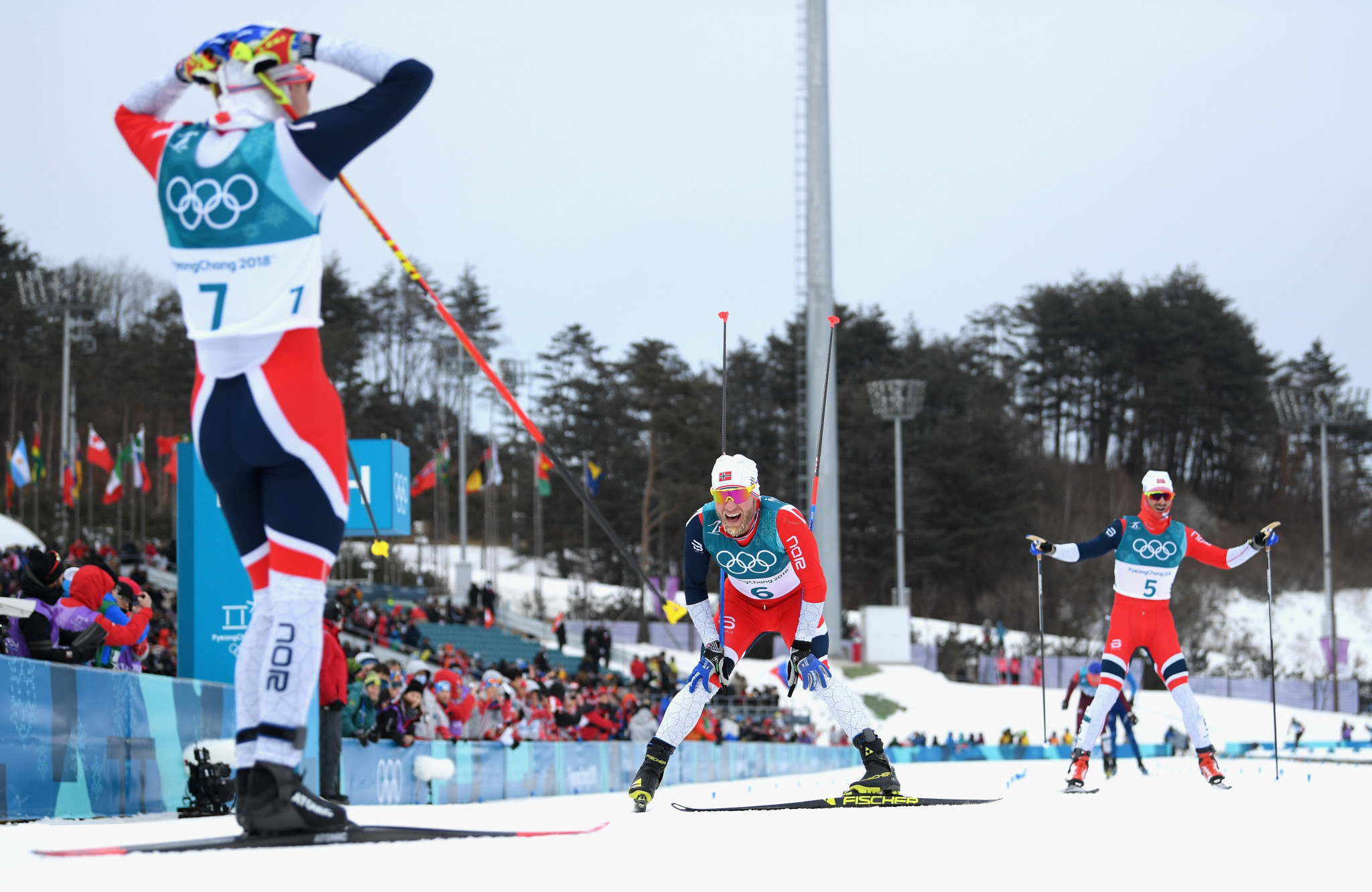 Krueger leads Norwegian sweep in men's skiathlon