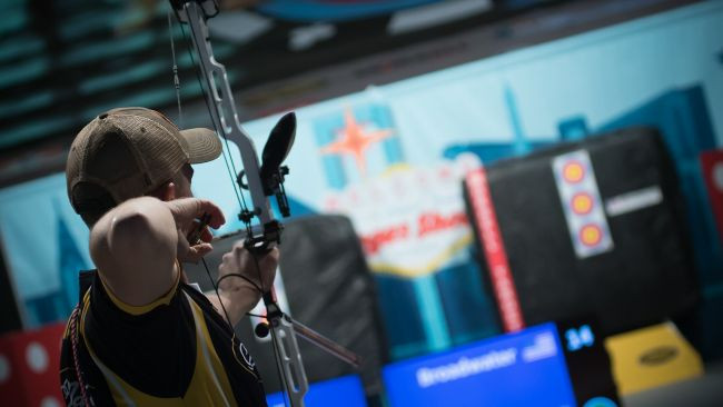 Broadwater claims third straight Las Vegas title at Indoor Archery World Cup