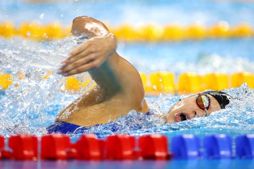 Mariia Kameneva of Russia scooped double gold on the final day in the 4x100m medley and 50m freestyle events