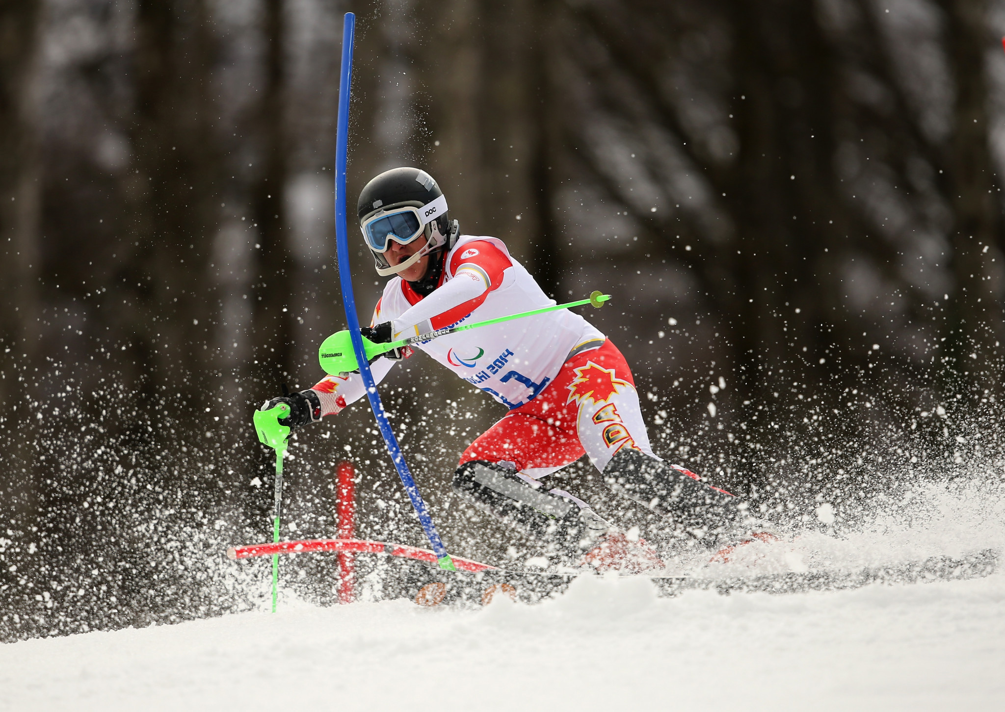 Marcoux dominates downhill courses on home snow at World Para Alpine Skiing World Cup in Kimberley