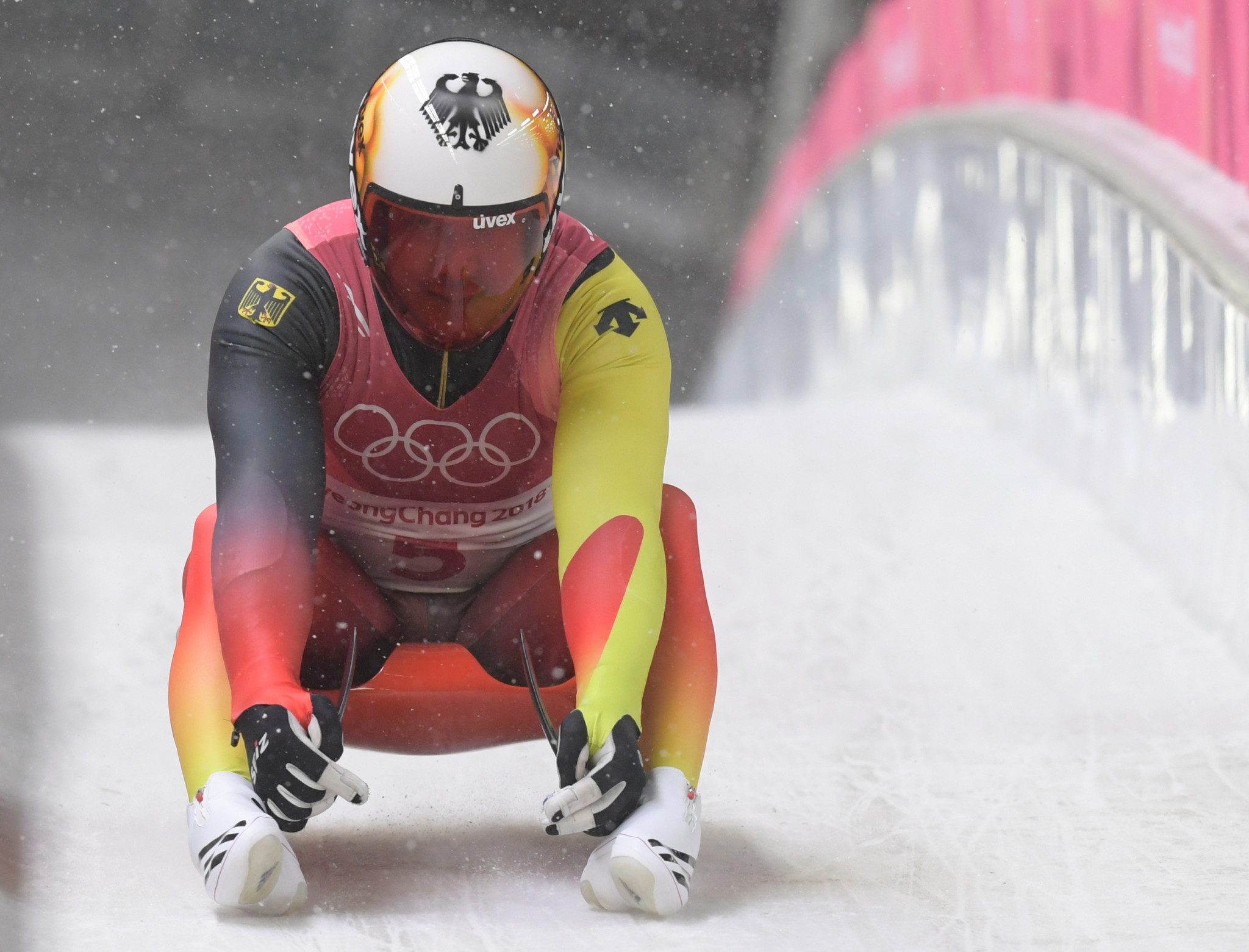 Germany's Felix Loch seemed destined to win a third successive gold medal until he faltered on the final run ©Getty Images