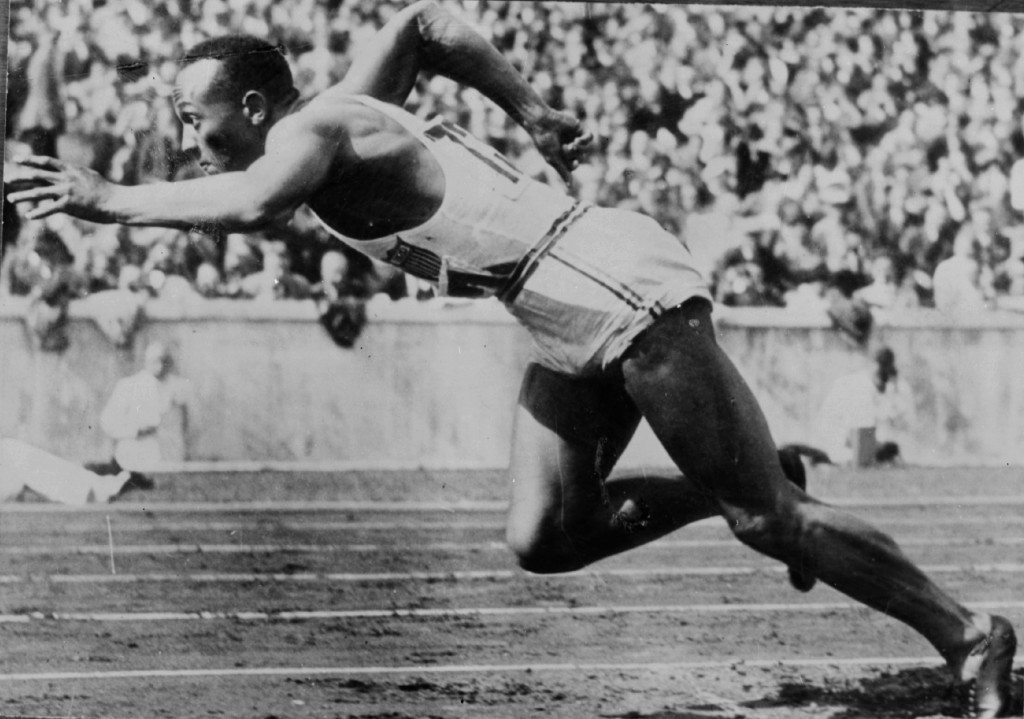 Jesse Owens' granddaughter presents Bolt and Co with golds