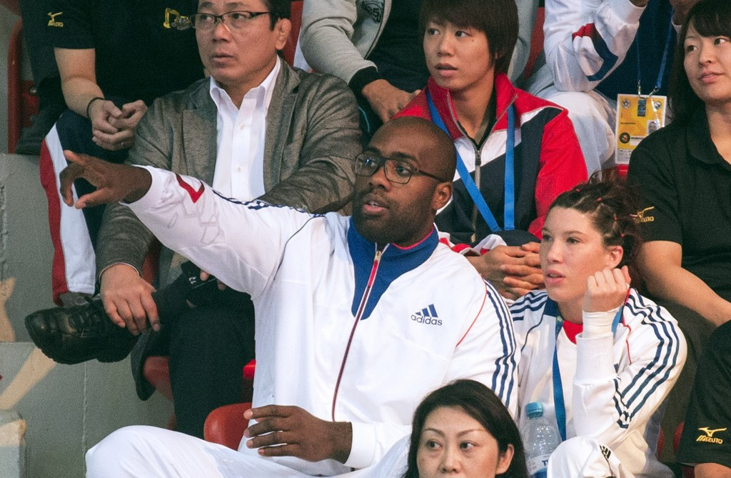 Men's over 100 kilogram champion Teddy Riner was an interested spectator ©Getty Images