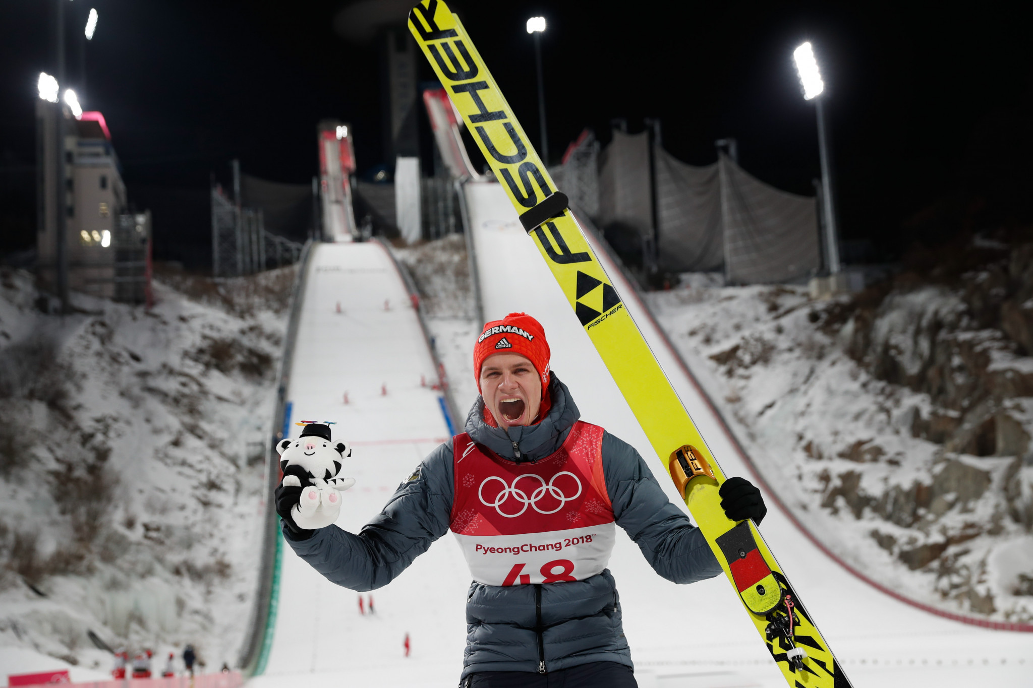 The sheer drop from the ski jump does not compare on television as to seeing it up close ©Getty Images