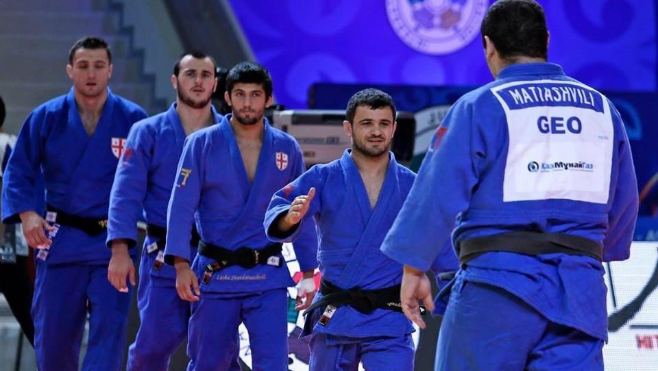Georgia performed strongly in the men's event to win bronze ©IJF