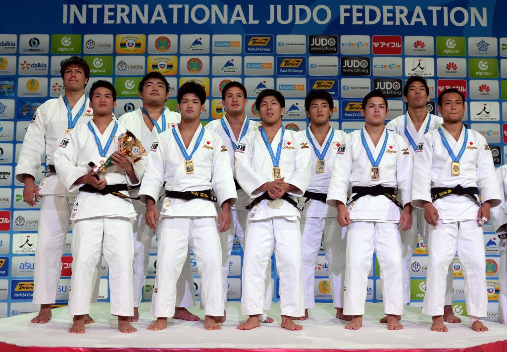 Japan claim team event golds on final day of 2015 World Judo Championships in Astana