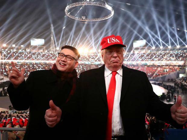 Donald Trump and Kim Jong-un impersonators gatecrashed the Pyeongchang 2018 Opening Ceremony and their brands are also making an impact too ©Getty Images