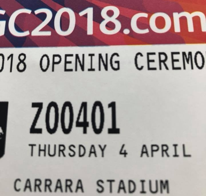 Some Gold Coast 2018 Opening Ceremony tickets wrongly had the date as a Thursday ©Facebook
