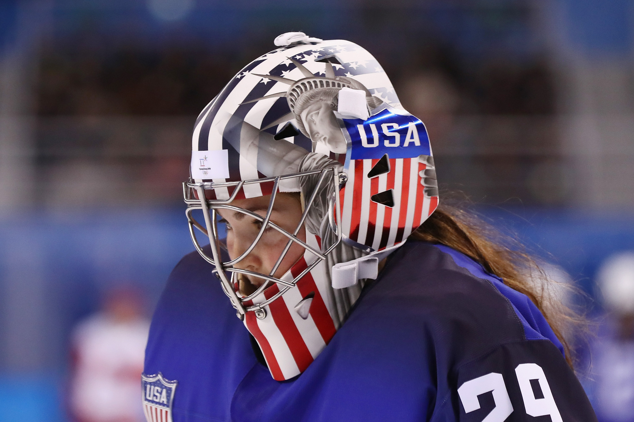 US goaltender allowed to wear Statue of Liberty on helmet after IOC claim misunderstanding over its removal
