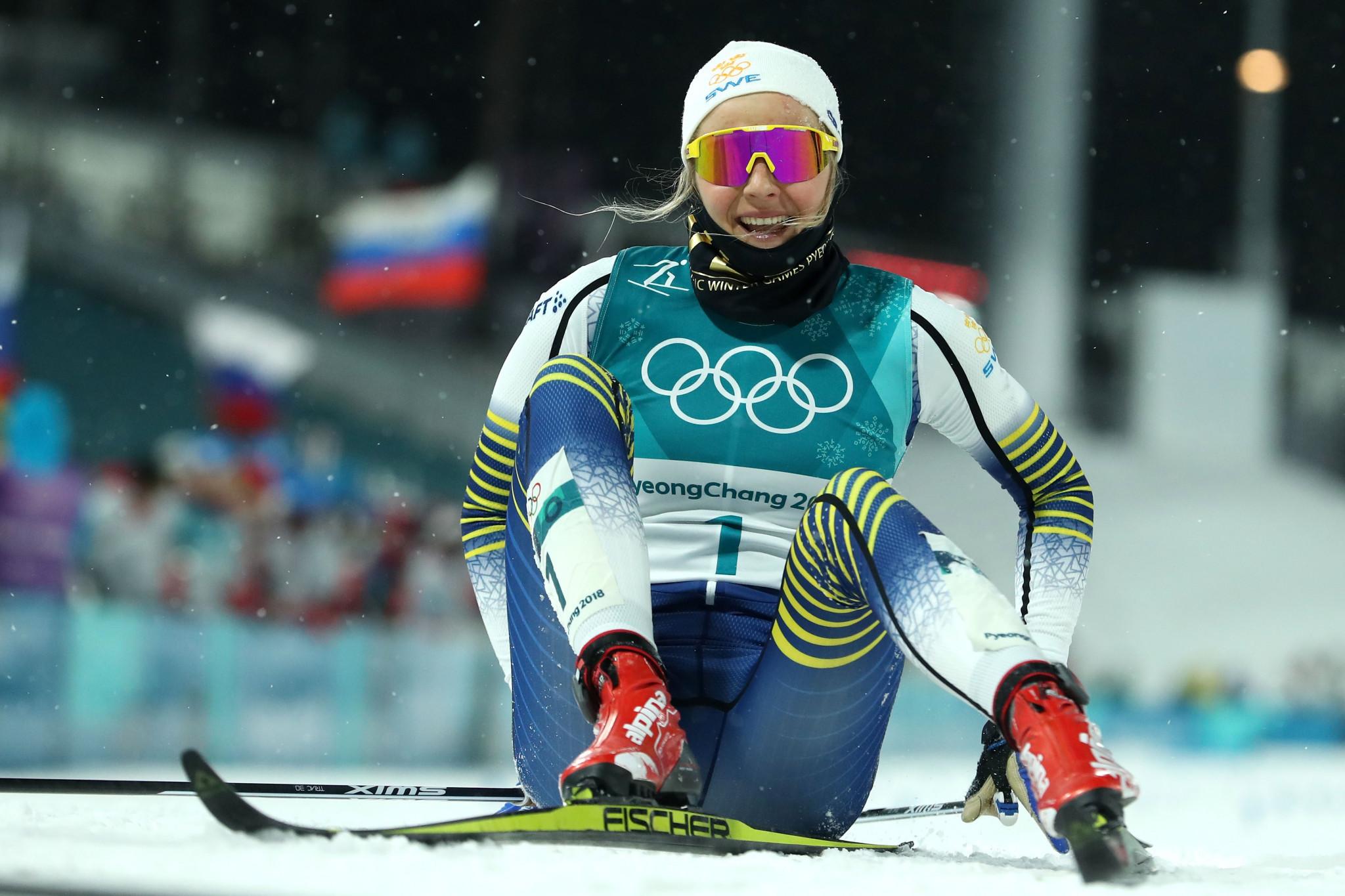 Nilsson and Klaebo win cross-country sprint titles at Pyeongchang 2018