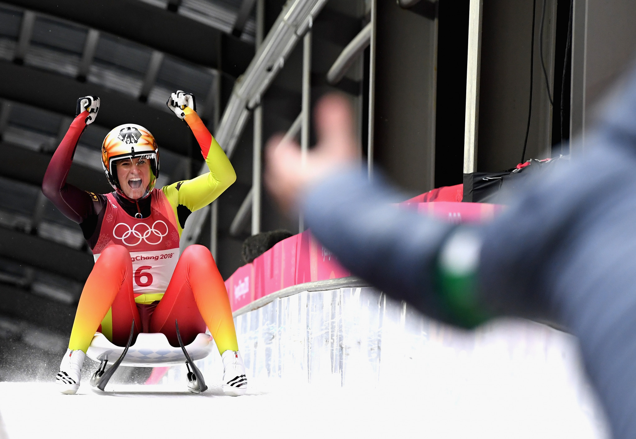 Geisenberger holds nerve to successfully defend Olympic luge crown
