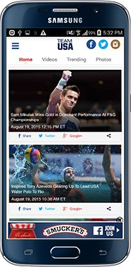 United States Olympic Committee launches official Team USA app ahead of Rio 2016