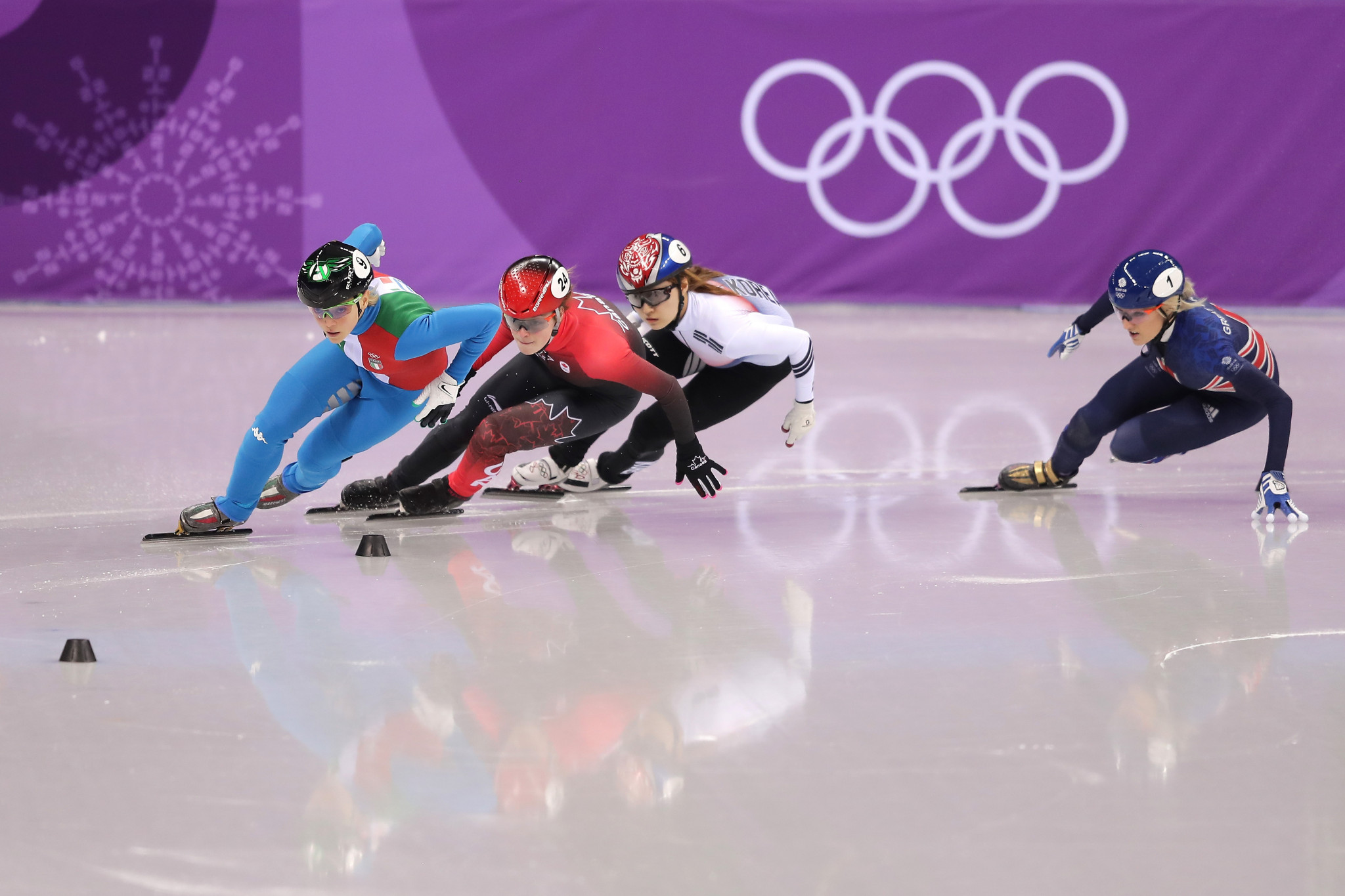 The incident took place during a dramatic 500m short-track final ©Getty Images