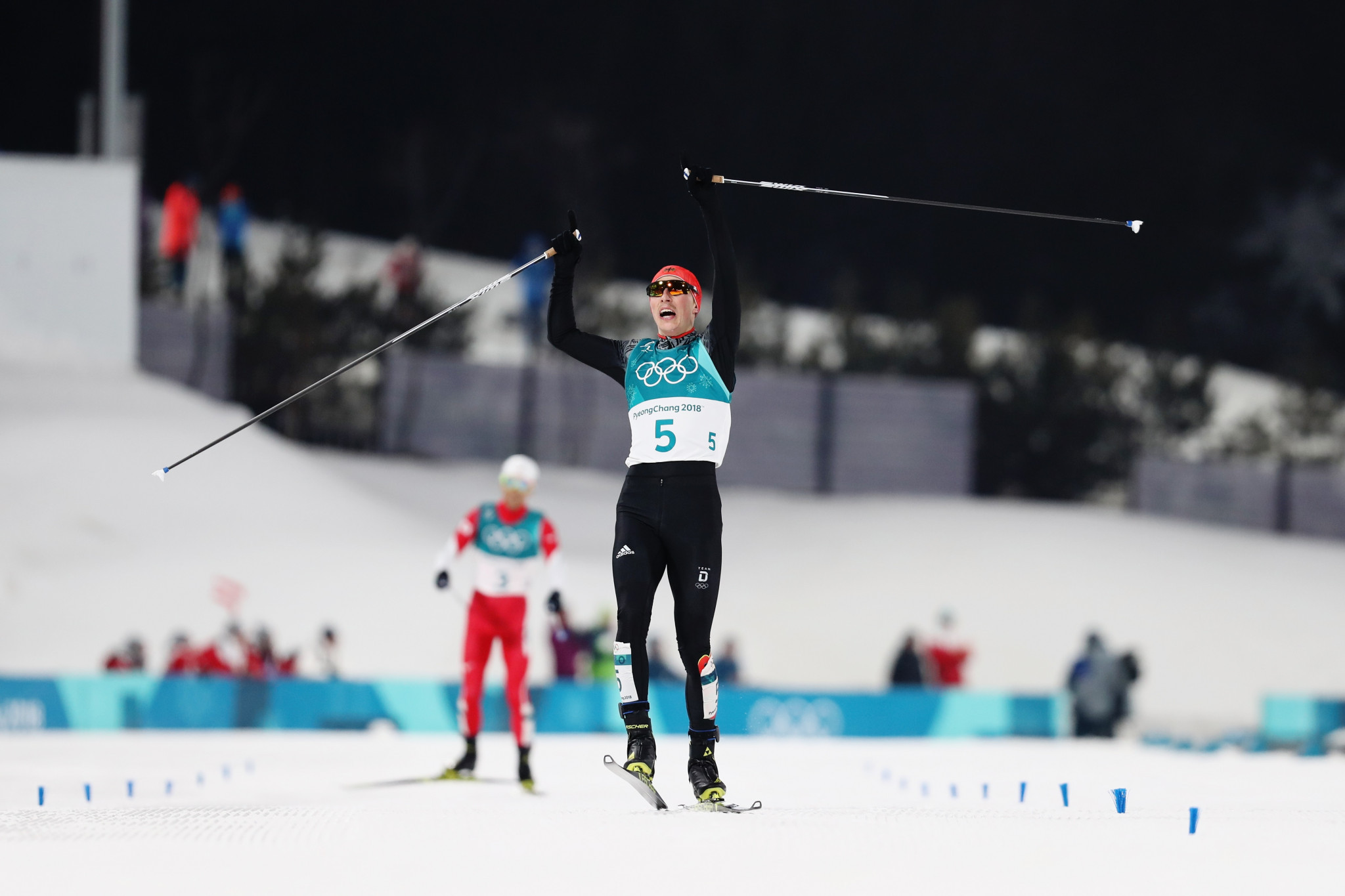 Frenzel becomes first skier to retain Olympic Nordic combined title for 38 years at Pyeongchang 2018