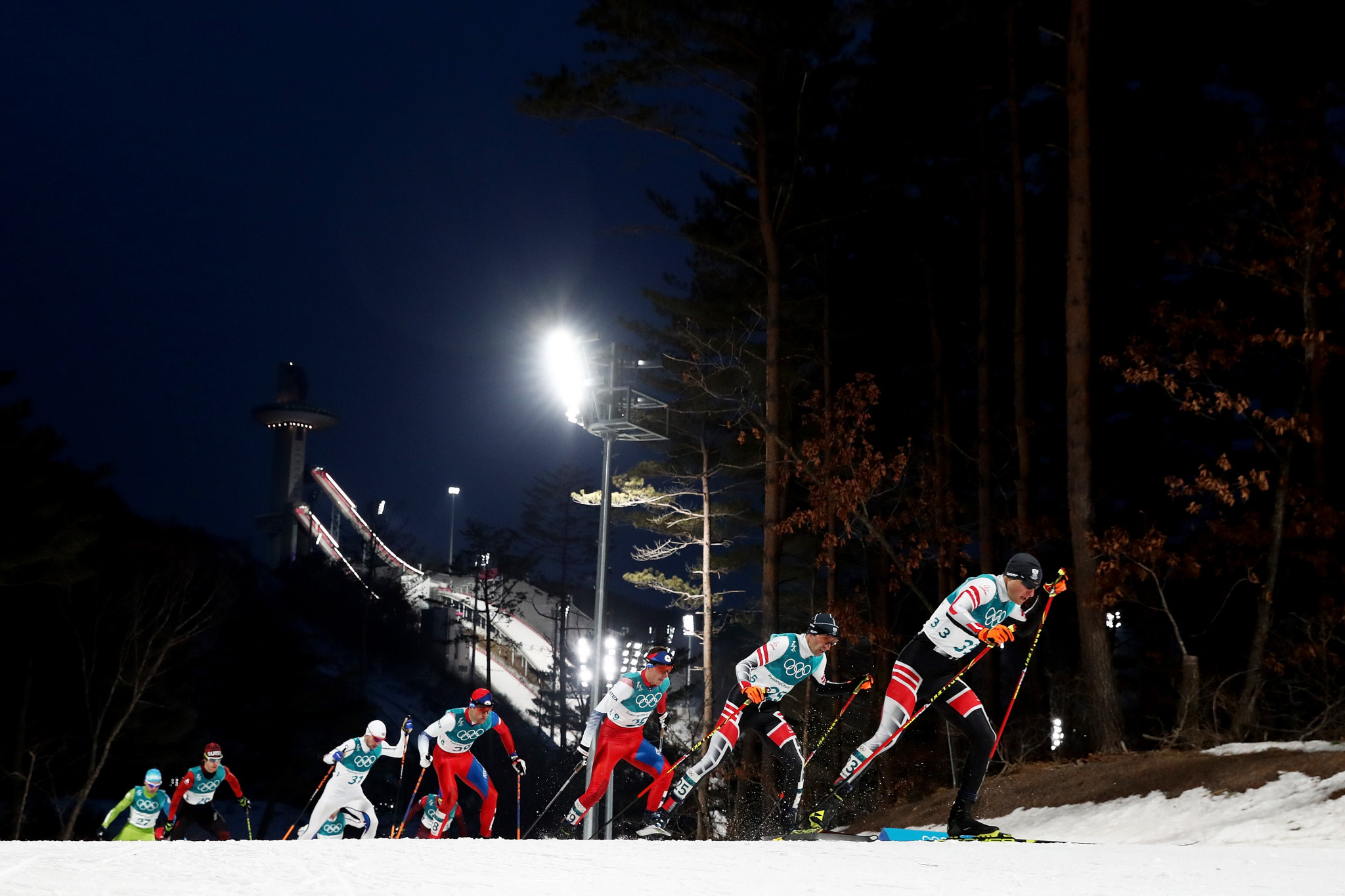 Nordic combined competition took place today elsewhere in Pyeongchang ©Getty Images