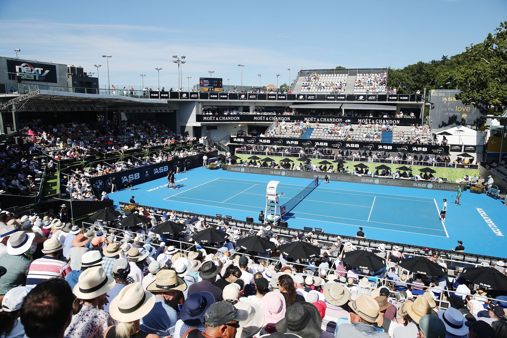 Netball NZ are looking into the possibility of converting the ASB Tennis Centre for the 2023 World Cup ©Getty Images