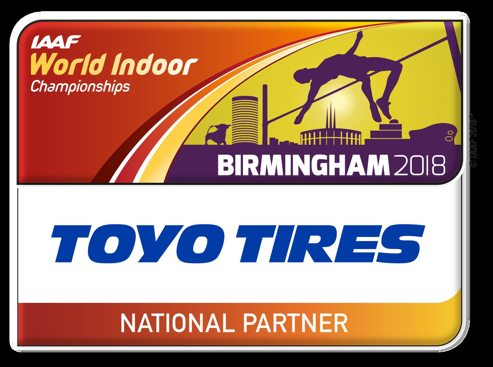 IAAF World Indoor Championships 2018 announce Toyo Tires as national partner