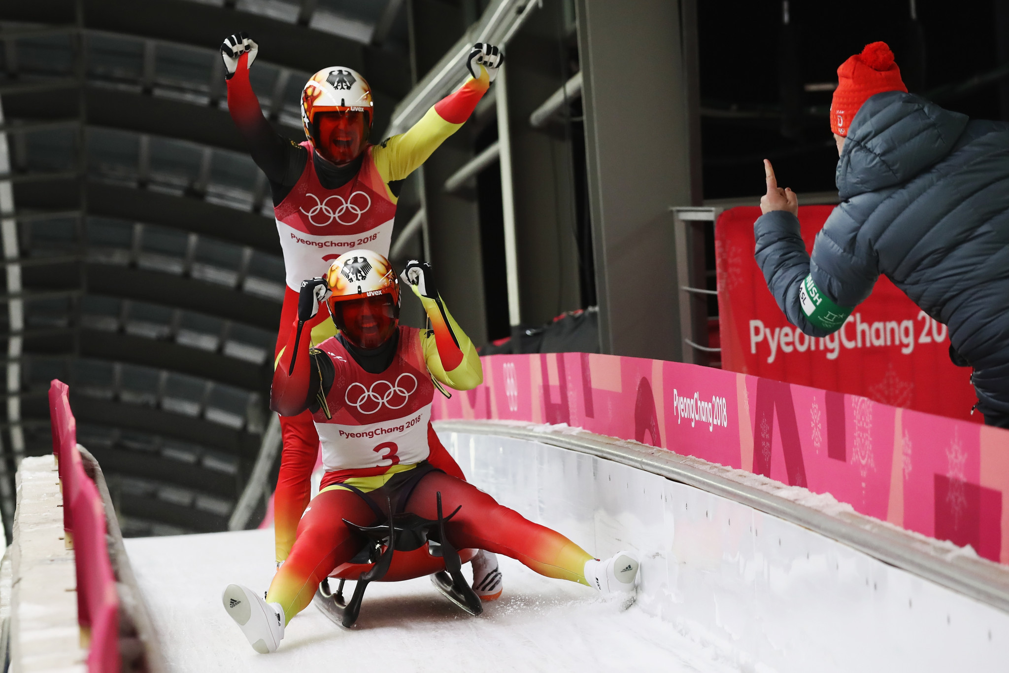 Wendl and Arlt maintain German charge with successful luge doubles title defence at Pyeongchang 2018
