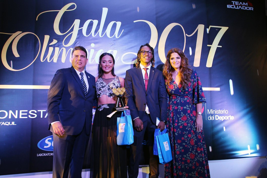 Olympic athletes were honoured in Ecuador ©COE