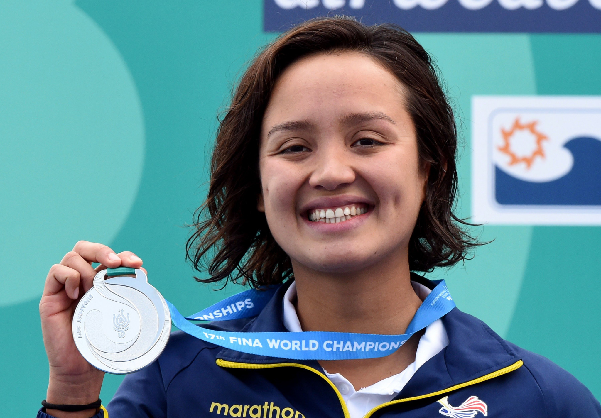 Samantha Arévalo won silver for Ecuador at the World Aquatics Championships in Budapest ©Getty Images
