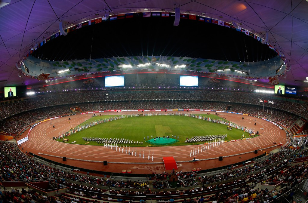 The Bird's Nest Stadium in Beijing, host of this year's World Athletics Championship