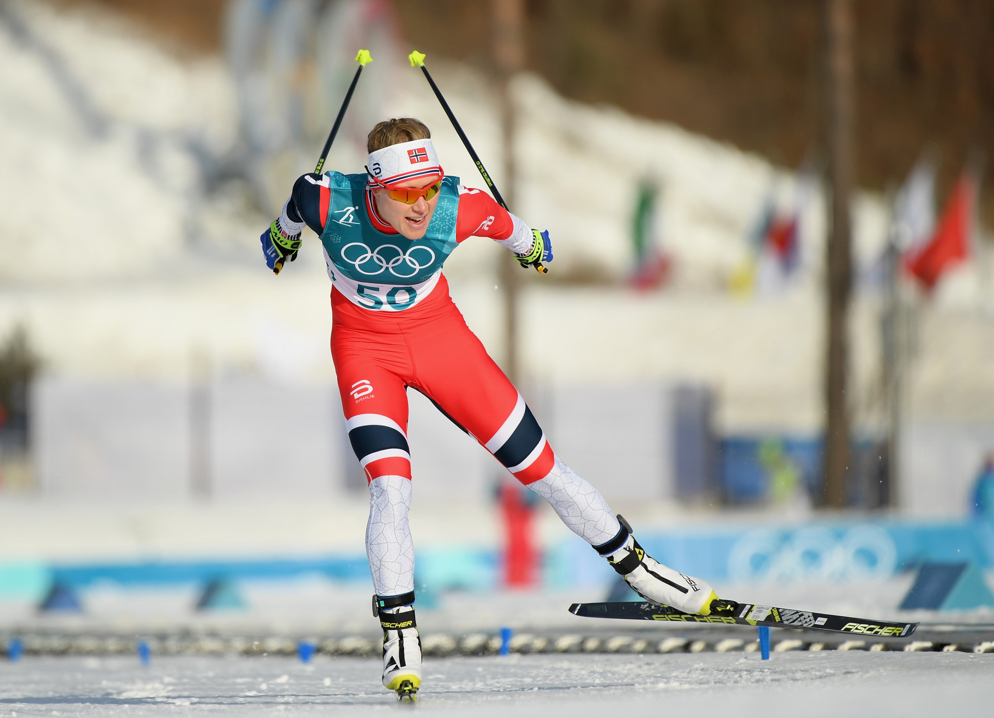 Haga storms to 10km freestyle victory as Bjørgen extends Winter Olympic medal record at Pyeongchang 2018