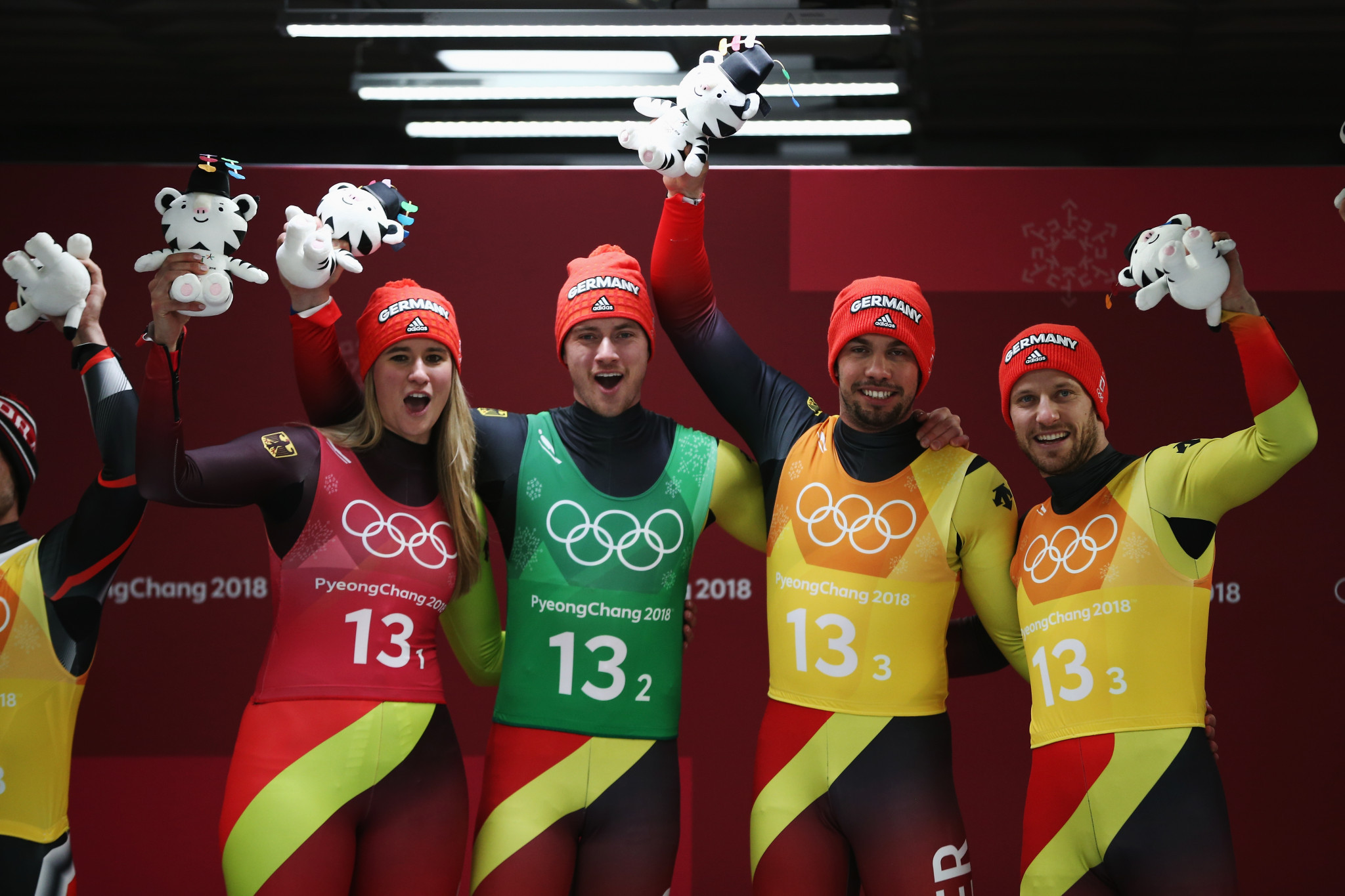 Germany underlined their dominance of the luge programme at the Winter Olympic Games here by successfully defending their team relay title ©Getty Images
