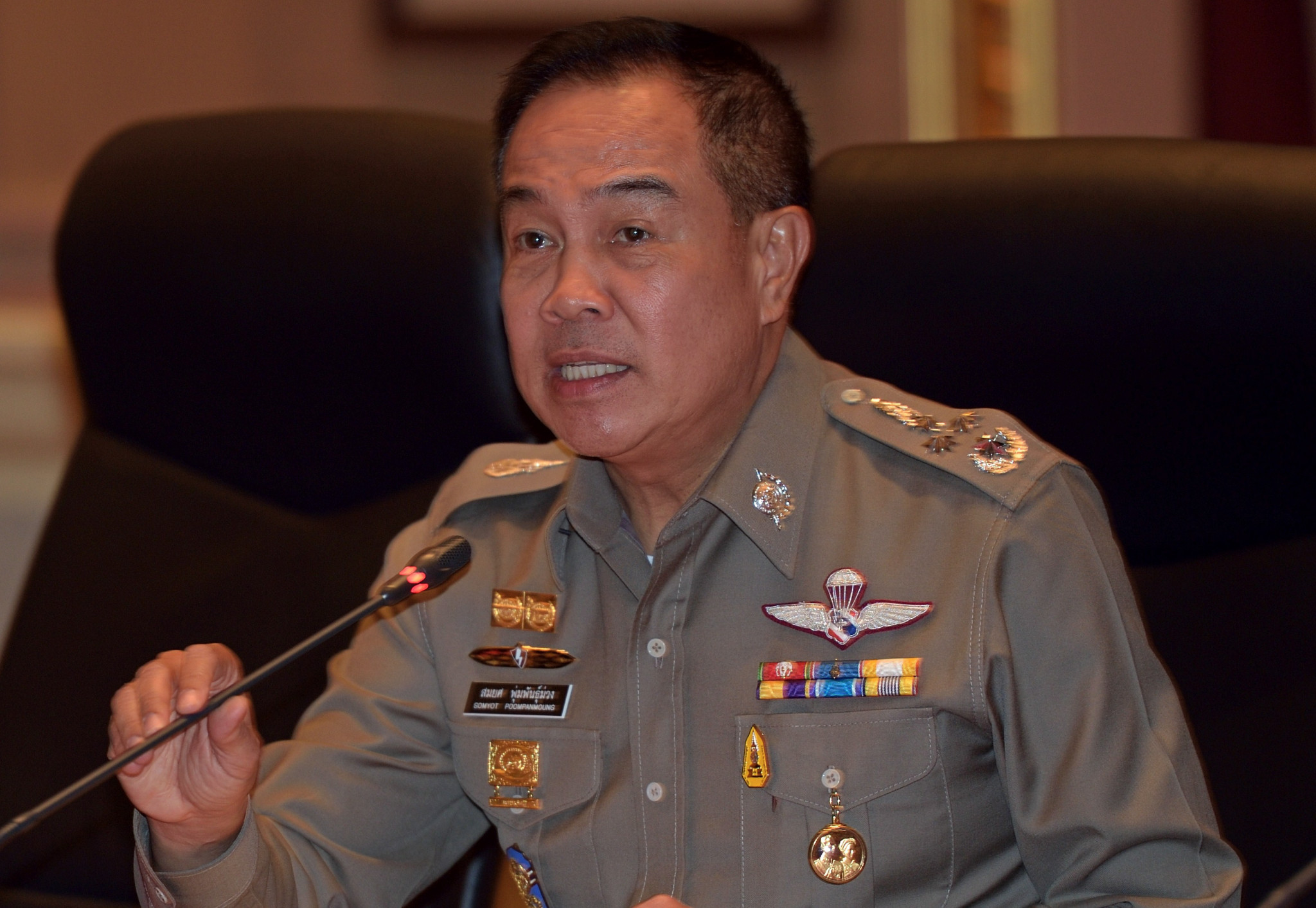 Somyot Poompanmoung is the former Thailand chief of police ©Getty Images