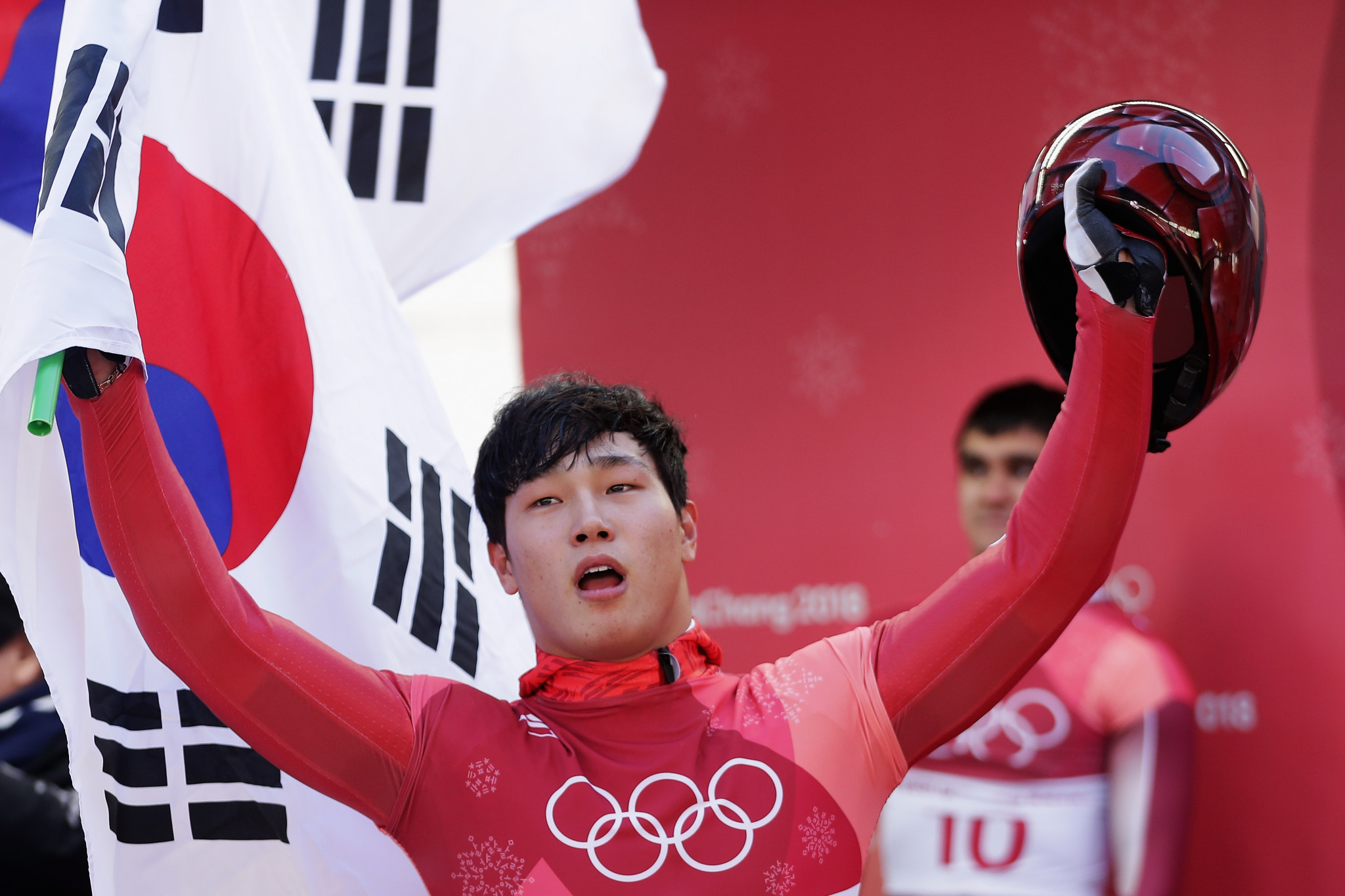 Yun Sungbin claimed hosts South Korea's second gold medal of the Pyeongchang 2018 Winter Olympic Games after winning the men's skeleton event today ©Getty Images