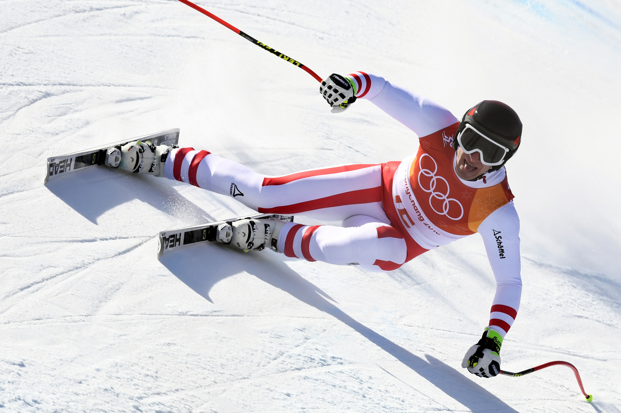 Mayer ends Norwegian dominance of super-G to seal second Winter Olympic Games gold medal