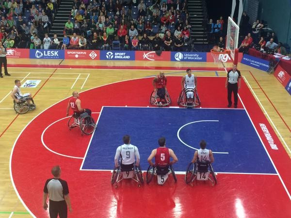 Action from Germany's victory over Great Britain ©EuroWBchamps/Twitter