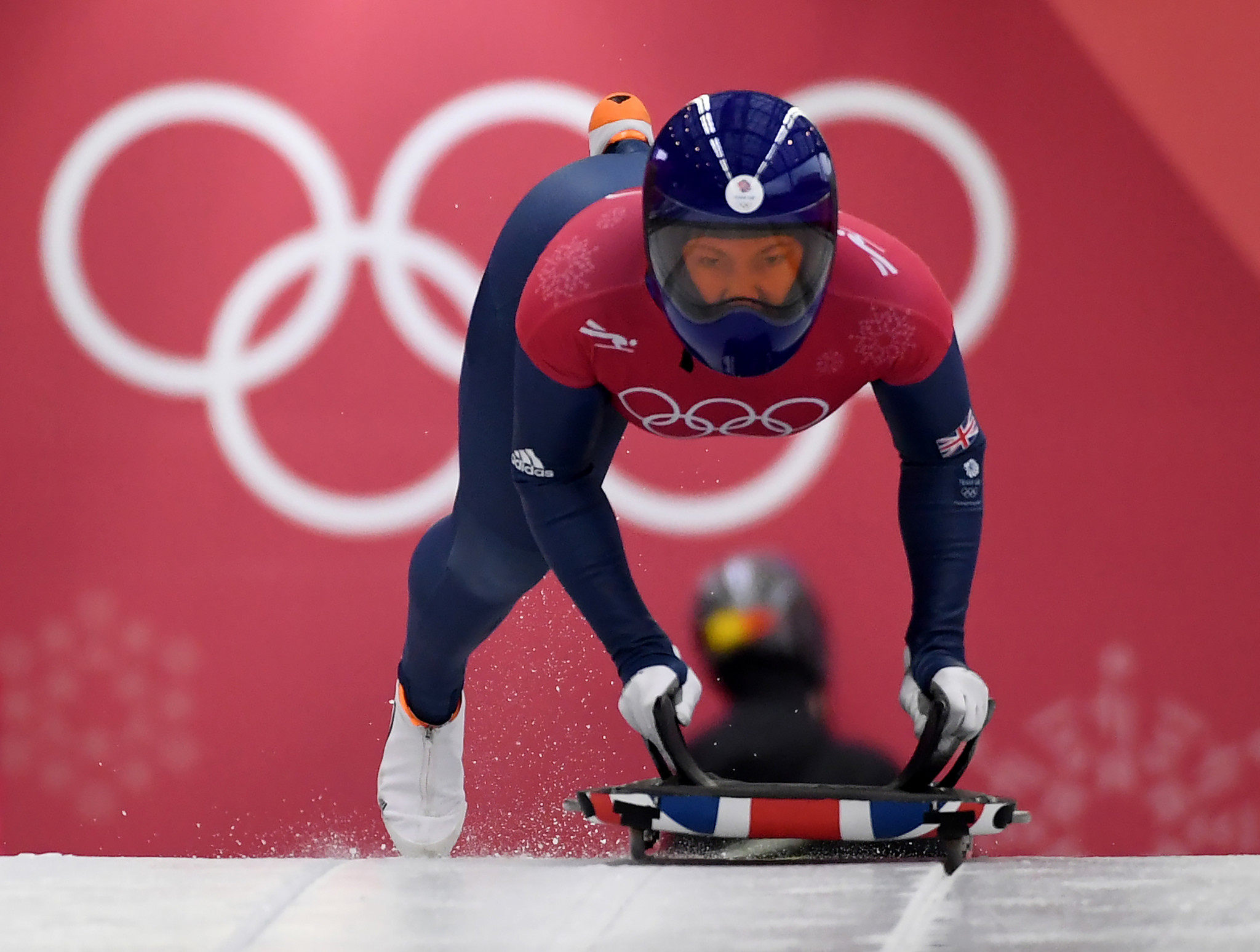 Britain's Lizzy Yarnold is among those to have threatened to snub members of the OAR team ©Getty Images