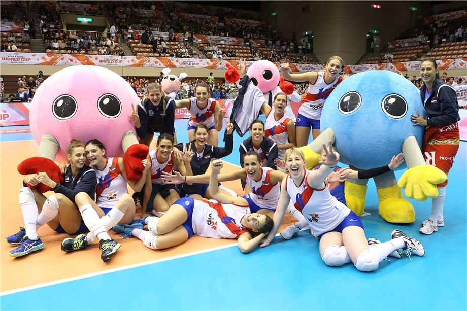 Serbia end Russia's unbeaten start to FIVB Women's World Cup