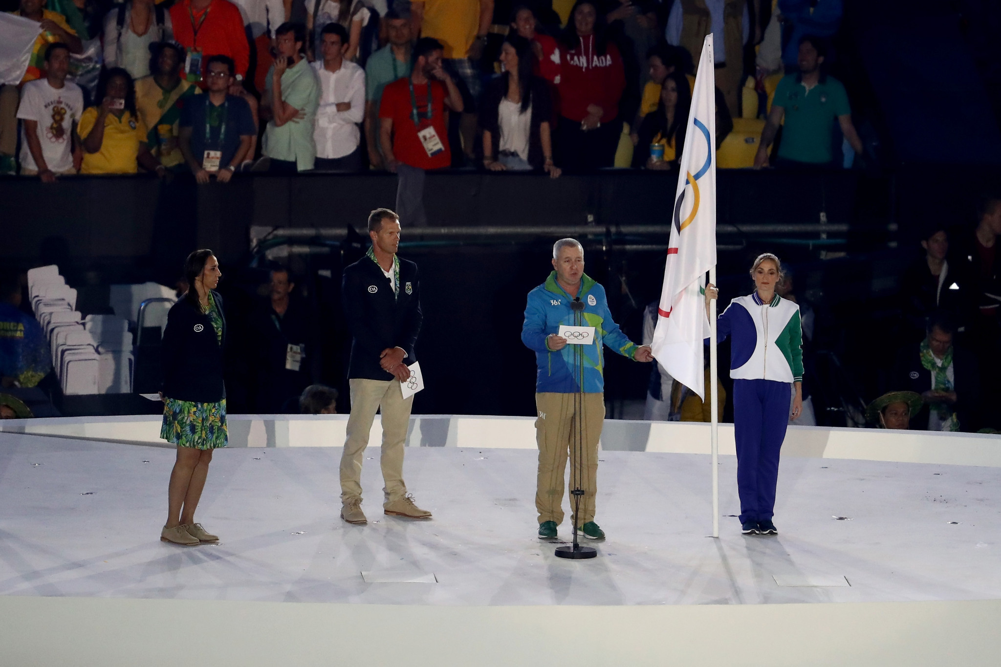 The Olympic Oath is taken at the Rio 2016 Games ©Getty Images