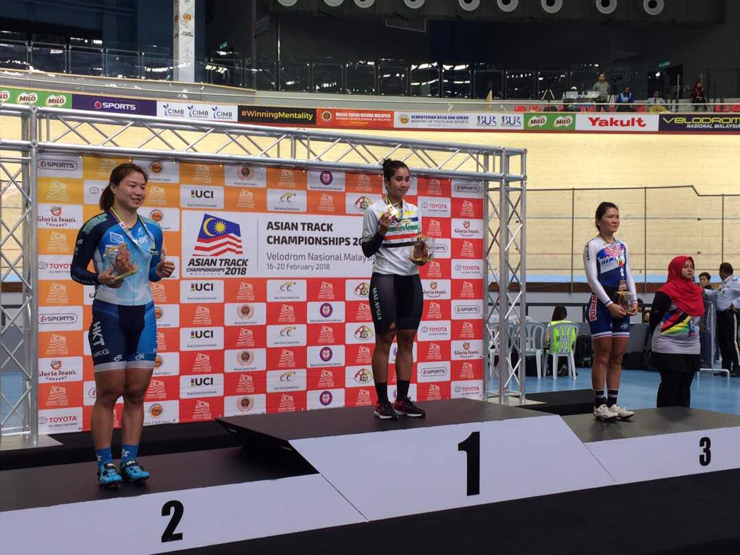 Home favourite earns points race gold on opening day of Asian Track Cycling Championships