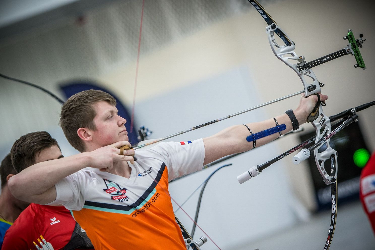 Sjef van den Berg also broke a European record in the recurve event ©Getty Images
