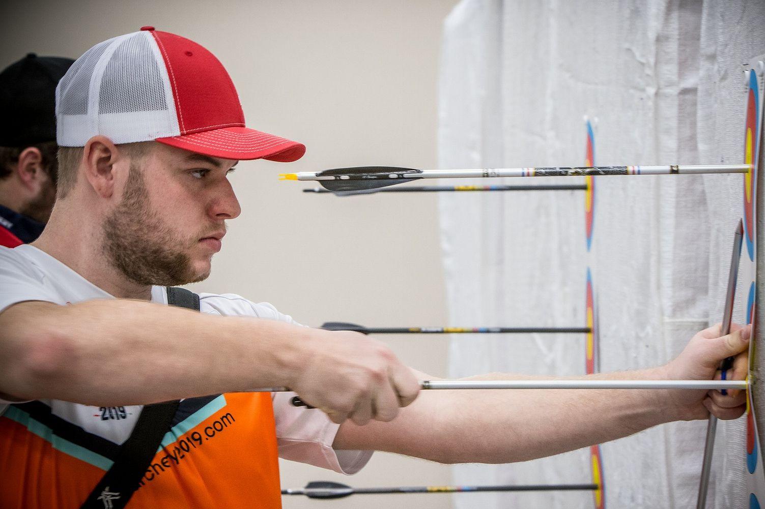 Schloesser reaches compound final at World Archery Indoor Championships