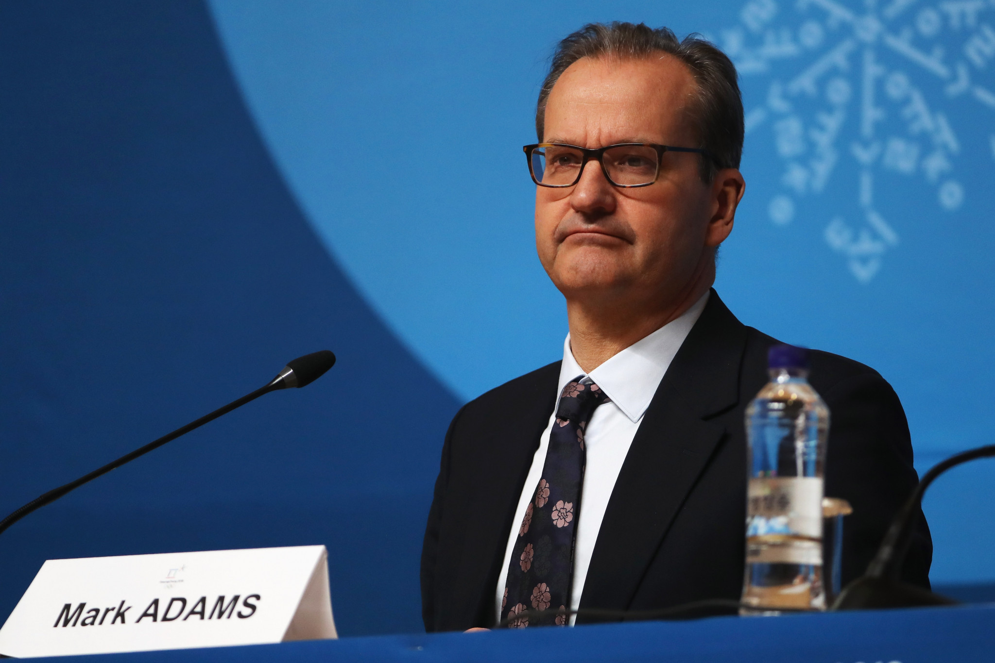 IOC Presidential spokesperson Mark Adams faced question after question about their response ©Getty Images