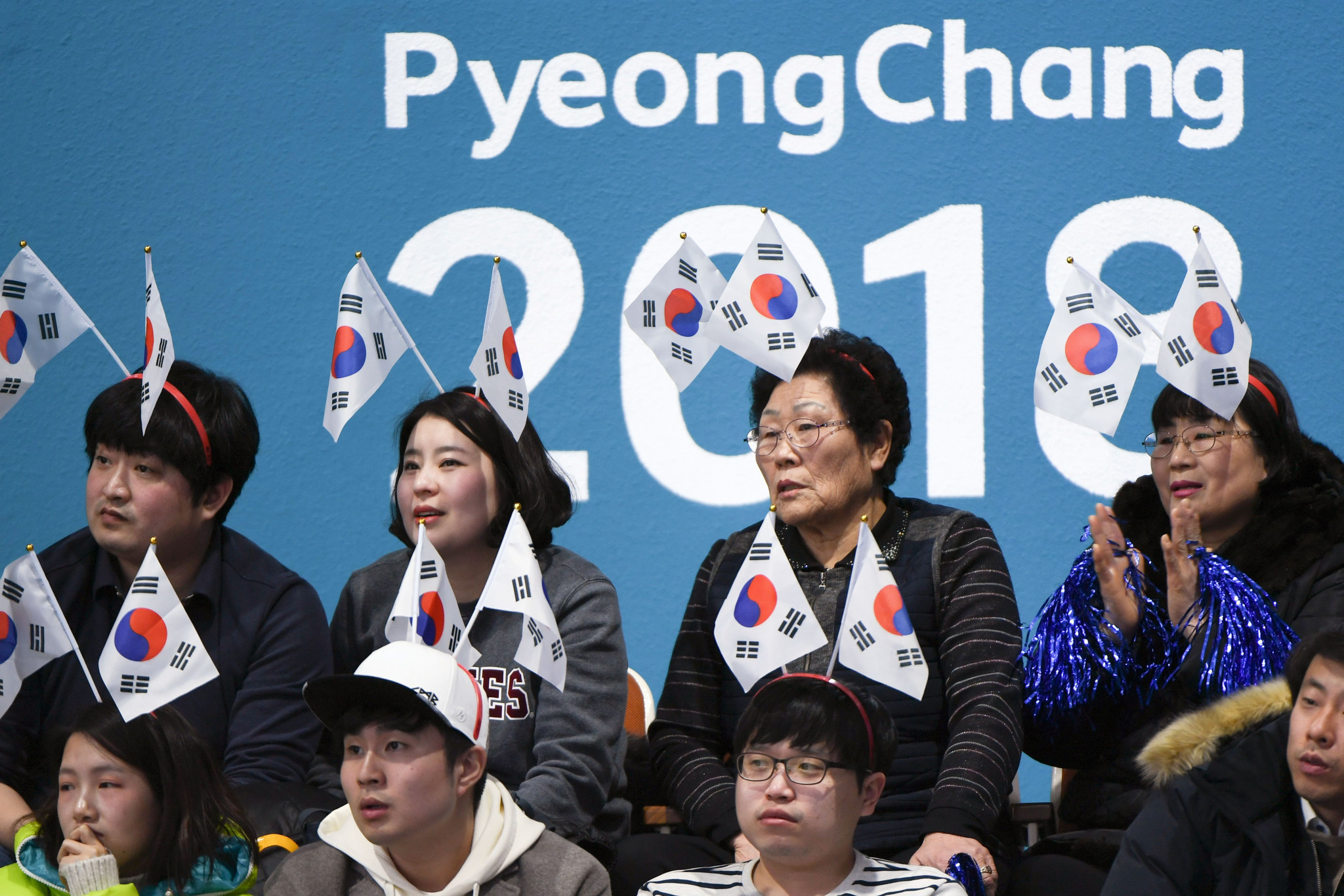 South Korean supporters at the curling today ©Getty Images
