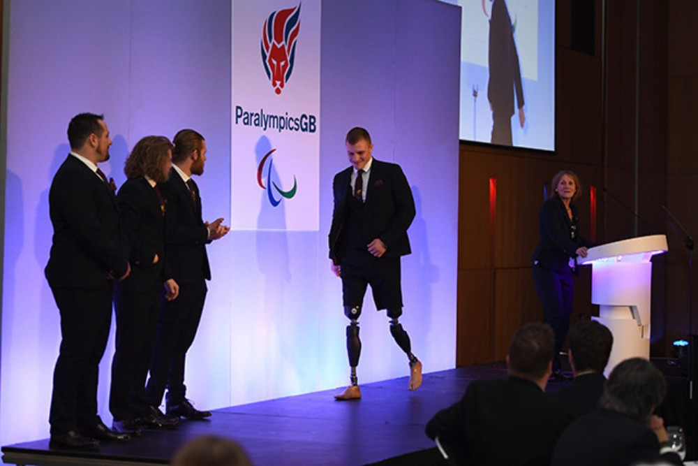 ParalympicsGB formal wear for Pyeongchang 2018 was unveiled at the event in Manchester ©ParalympicsGB