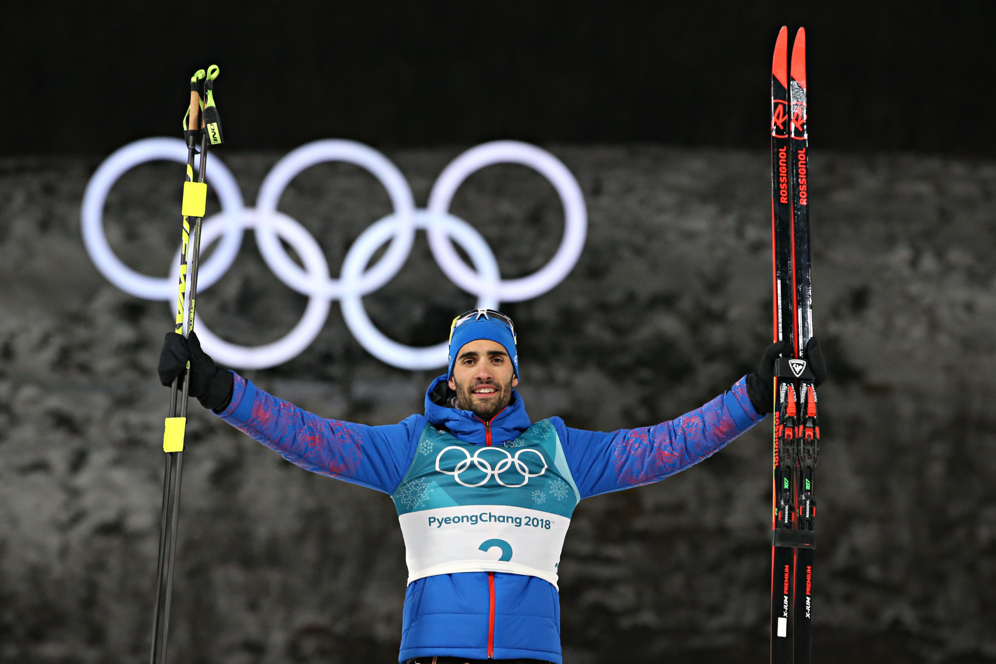 Martin Fourcade has now won four Olympic gold medals, a French record ©Getty Images
