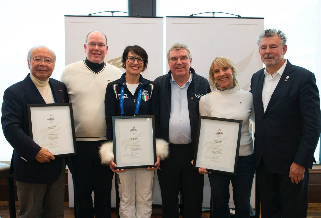 WOA honours Olympians for Life inductees at Pyeongchang 2018