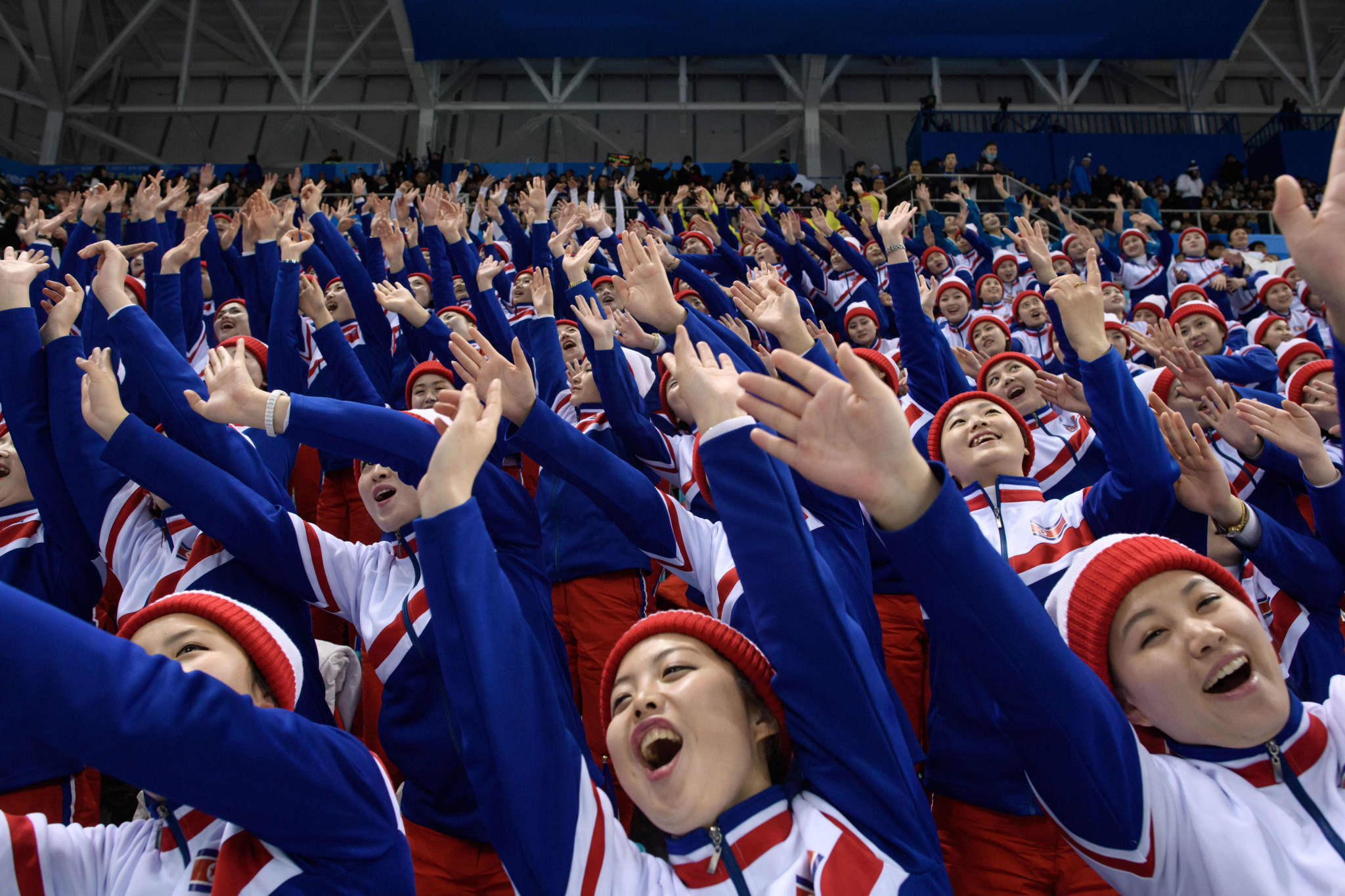 North Korean cheerleaders charmed, then concerned people on social media ©Getty Images