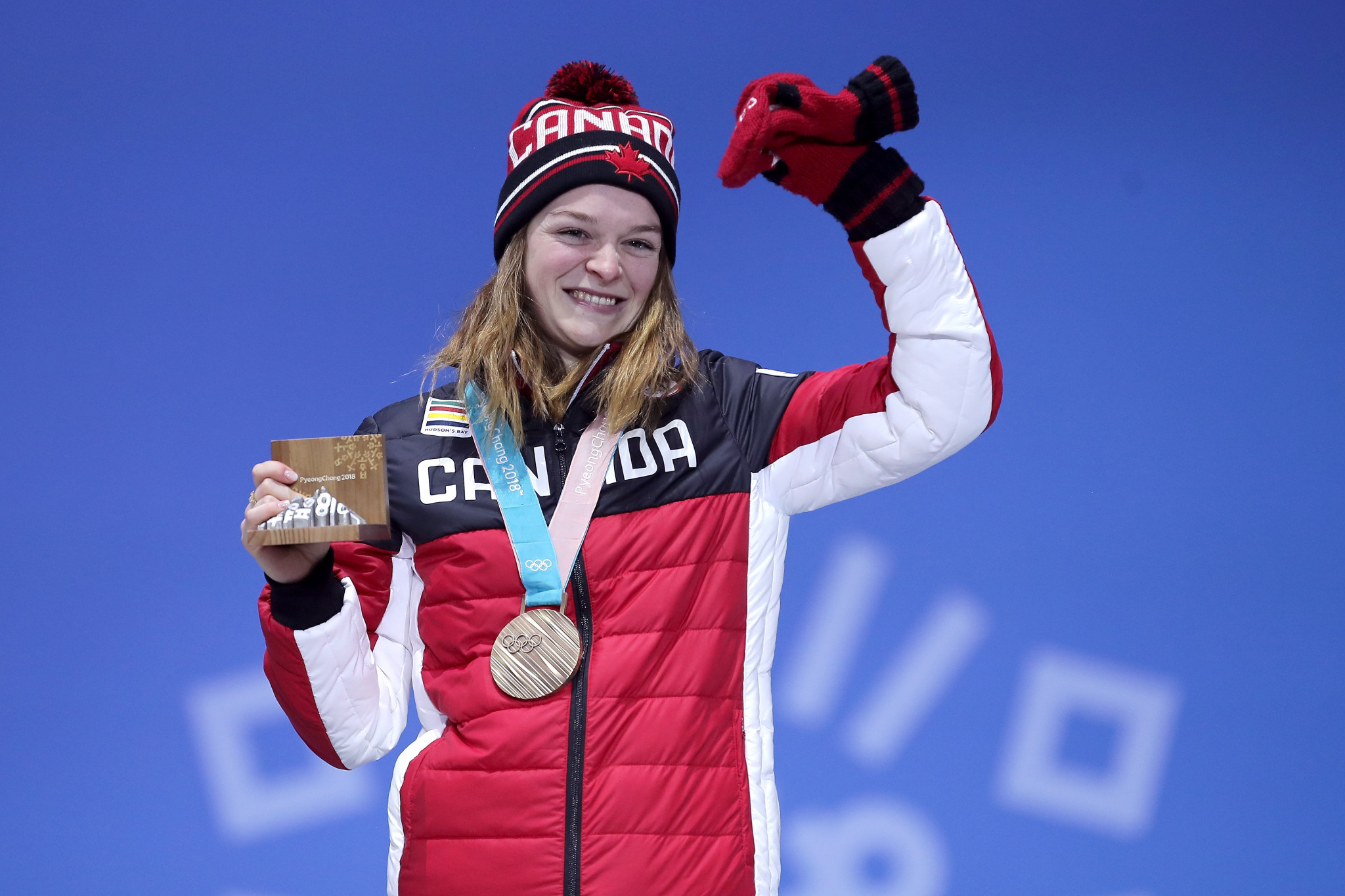 Canada's Kim Boutin was subjected to online threats after winning a medal at the expense of a disqualified South Korean in the short track speed skating at Pyeongchang 2018 ©Getty Images
