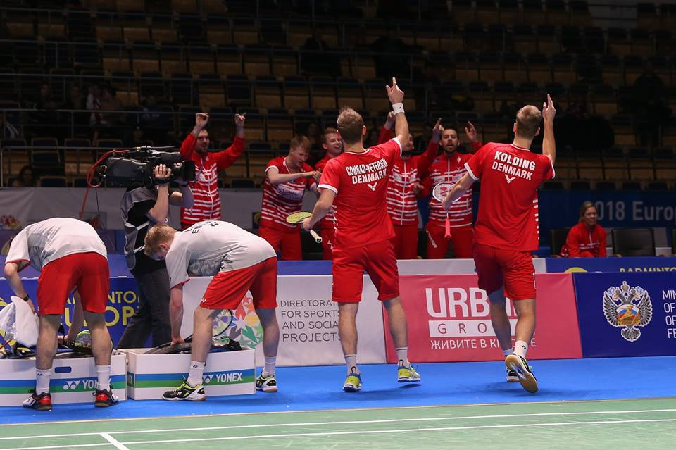 Denmark complete men and women's double at European Team Badminton Championships