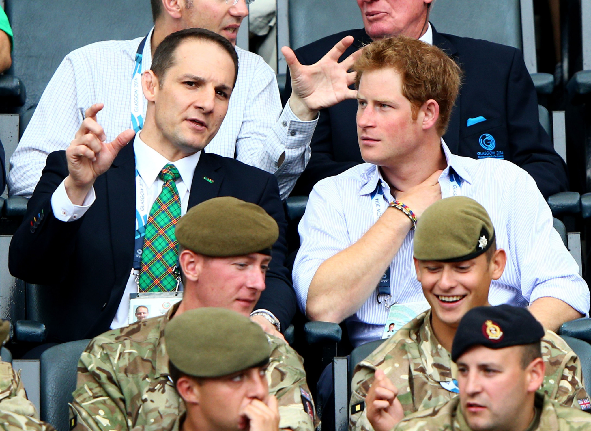 Prince Harry visited the 2014 Commonwealth Games in Glagsow, where he met David Grevemberg, now chief executive of the CGF, and could be at Gold Coast 2018 ©Getty Images